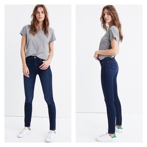 """MADEWELL 10"""" High-Rise Skinny Jeans Hayes Wash"""